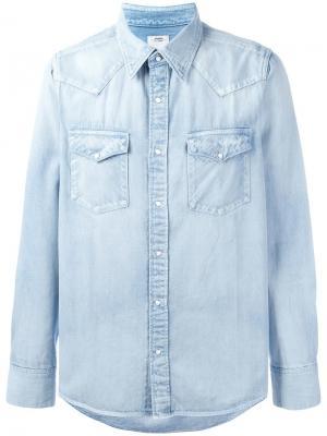 Джинсовая рубашка с передними карманами Visvim. Цвет: синий