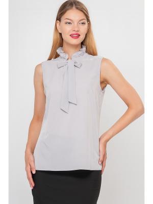 Блузка Limonti. Цвет: серый