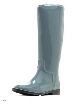 Резиновые сапоги ANRA. Цвет: серый