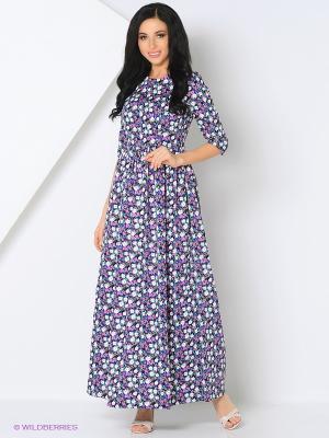 Платье из плотного хлопка в пол COCOS
