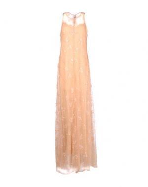 Длинное платье MARY KATRANTZOU. Цвет: телесный