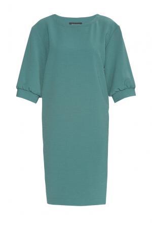 Платье из искусственного шелка с вискозой 184159 Cyrille Gassiline. Цвет: зеленый