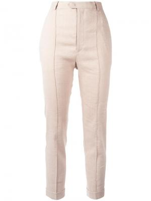 Строгие брюки прямого кроя Isabel Marant. Цвет: телесный