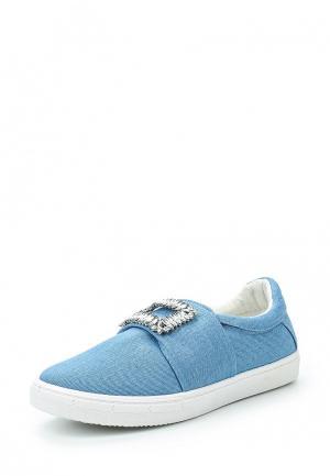 Слипоны Catisa. Цвет: голубой