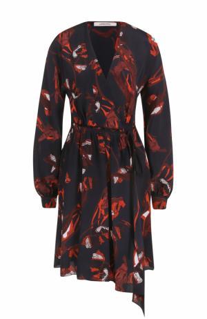 Приталенное платье с V-образным вырезом и принтом Dorothee Schumacher. Цвет: разноцветный