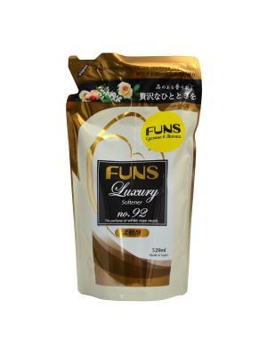 Кондиционер парфюмированный для белья FUNS ЗБ с ароматом белой мускусной розы 520 мл. Цвет: белый