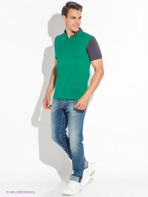 Футболка-поло D.S. Цвет: зеленый