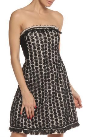 Платье Maria Grazia Severi. Цвет: черный, молочный