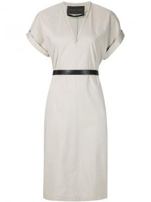 Платье c V-образным вырезом Jeffrey Dodd. Цвет: телесный