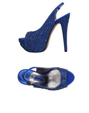 Сандалии GINA. Цвет: ярко-синий