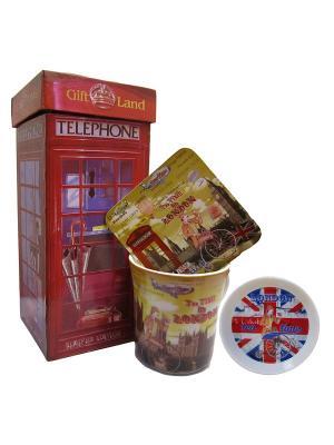 Набор для чаепития GiftLand. Цвет: красный, белый, горчичный, коричневый, синий