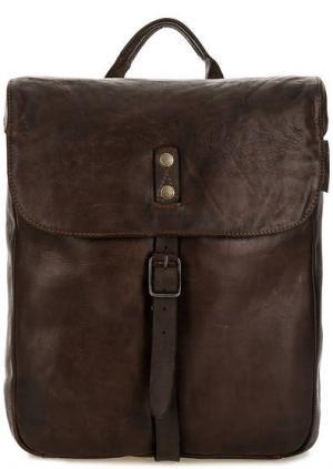 Кожаный рюкзак с откидным клапаном aunts & uncles. Цвет: коричневый