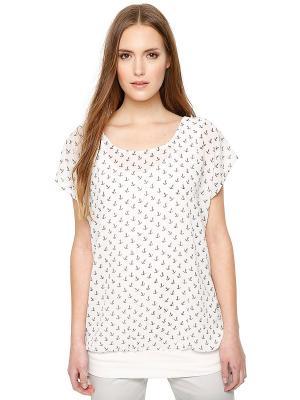 Блузка S.OLIVER. Цвет: белый