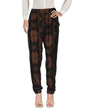 Повседневные брюки DESIGUAL. Цвет: хаки