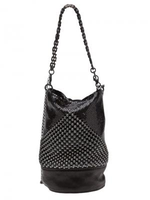 Декорированная сумка с цепочной лямкой Laura B. Цвет: чёрный