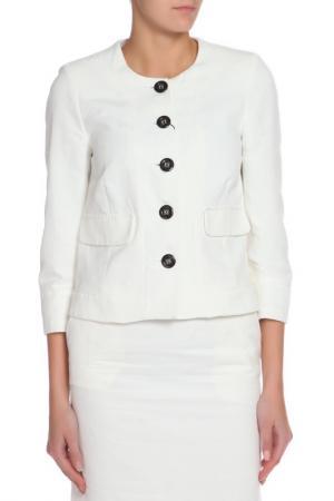 Костюм: пиджак, брюки GF FERRE. Цвет: белый