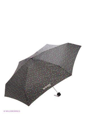 Зонт Isotoner. Цвет: белый, черный, голубой, сиреневый, желтый