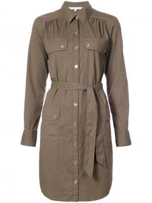 Cargo shirt dress Trina Turk. Цвет: зелёный