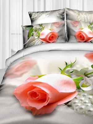 Постельное белье Buenas Noches. Цвет: светло-серый, бледно-розовый