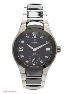 Часы Festina CERAMIC. Цвет: серебристый