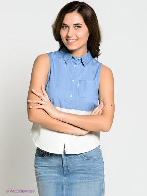 Рубашка Levi's®. Цвет: голубой, молочный