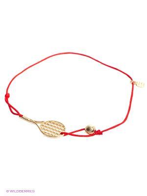 Браслет Теннис, золото 585 Amorem. Цвет: красный, золотистый