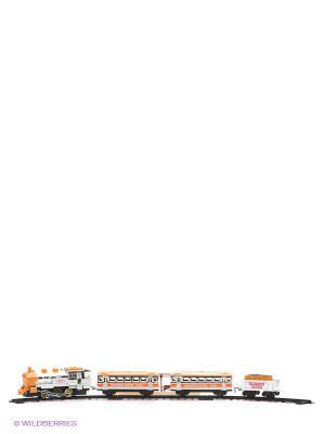 Железная дорога Николаевский экспресс 1Toy. Цвет: серебристый, оранжевый