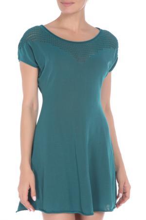 Платье Oblique. Цвет: темно-зеленый