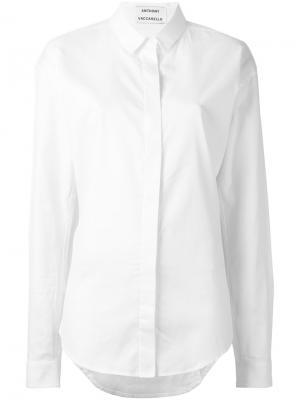 Классическая рубашка Anthony Vaccarello. Цвет: белый
