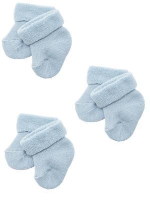 Носки детские шерстяные, комплект 3 пары Malerba. Цвет: голубой
