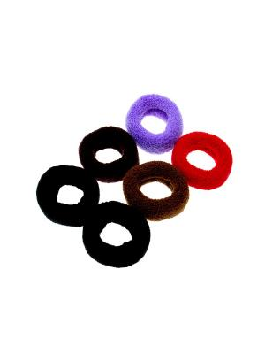 Резинка для волос - 6 шт. Olere. Цвет: черный, коричневый, красный
