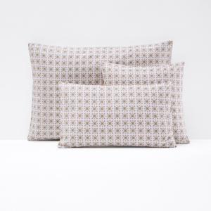 Чехол на подушку или наволочка из перкали AMELIA La Redoute Interieurs. Цвет: рисунок/фон экрю