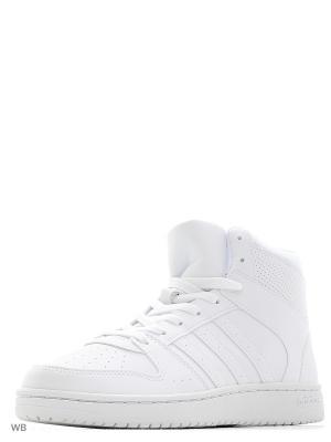 Кроссовки жен. VS HOOPSTER MID W  FTWWHT/FTWWHT/FTWWHT Adidas. Цвет: белый