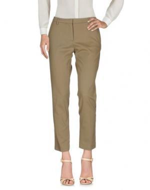 Повседневные брюки GENTE ROMA. Цвет: хаки