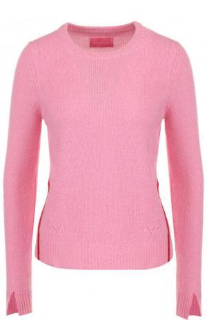 Кашемировый пуловер с круглым вырезом Zadig&Voltaire. Цвет: розовый