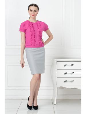Блузка KEY FASHION. Цвет: малиновый