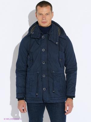 Куртка Oodji. Цвет: темно-синий