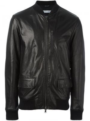 Куртка на молнии Daniele Alessandrini. Цвет: чёрный