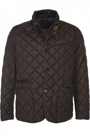 Куртка Mabrun. Цвет: темно-коричневый