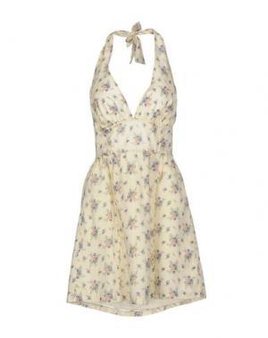 Короткое платье ANGEL EYE. Цвет: светло-желтый