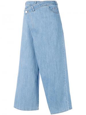 Укороченные джинсовые брюки Christian Wijnants. Цвет: синий