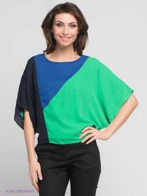 Блузка Fever. Цвет: зеленый, темно-синий, синий