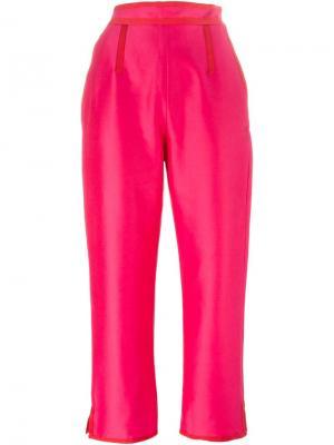 Укороченные брюки Isa Arfen. Цвет: розовый и фиолетовый