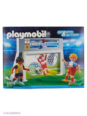 Футбол: Стена для тренировки ударов Playmobil. Цвет: серый