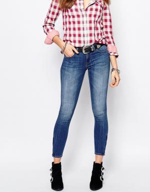 Lee Укороченные джинсы скинни Scarlett. Цвет: синий