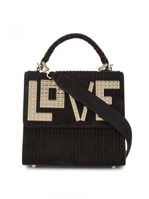 Мини-сумка на плечо Alex Les Petits Joueurs. Цвет: чёрный