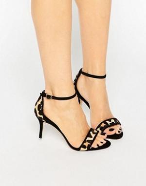 Dune Леопардовые сандалии с эффектом ворса Maria. Цвет: мульти