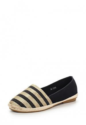 Эспадрильи Style Shoes. Цвет: черный