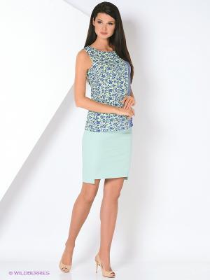 Блузка Femme. Цвет: голубой, синий