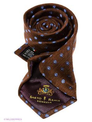 Галстук Sarto Reale. Цвет: коричневый, синий